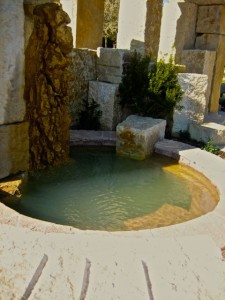 Baptismal pool